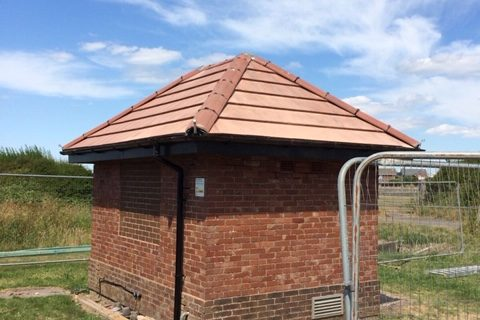 New Tiled Roof for United Utilities Pump House, near Blackpool
