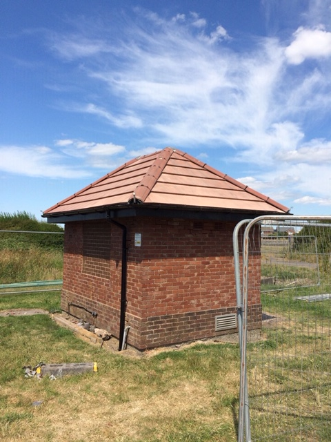 New tiled roof for United Utilities pump house near Blackpool