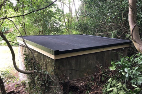 Installation of Resitrix EPDM flat roof system at vicarage in Bingley