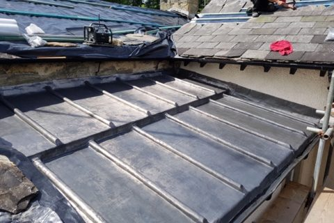 Lead Work for Flat Roof at Giggleswick School, North Yorkshire
