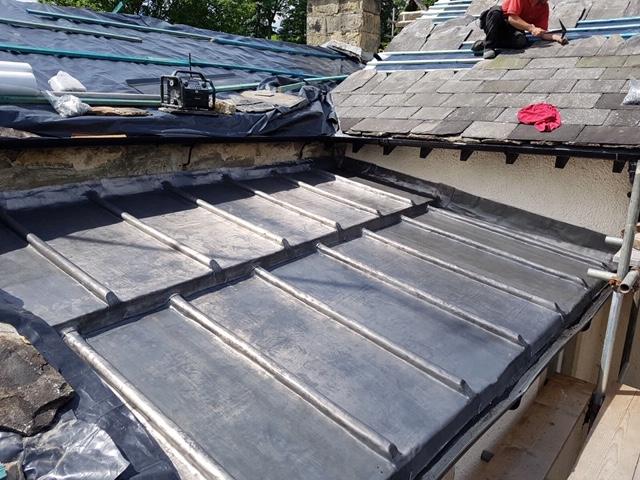 lead flat roof on Giggleswick School